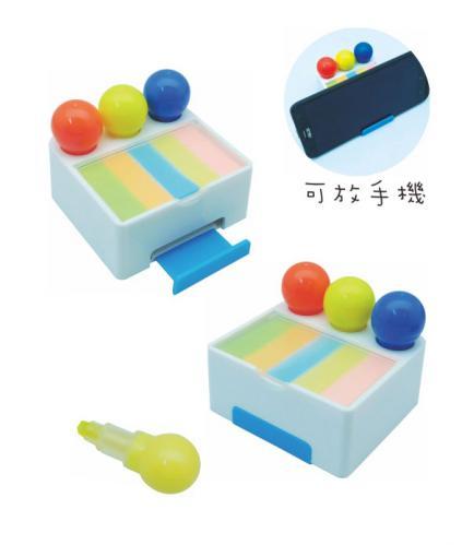 18-A01012800-18V-1121J 果凍螢光筆+手機座