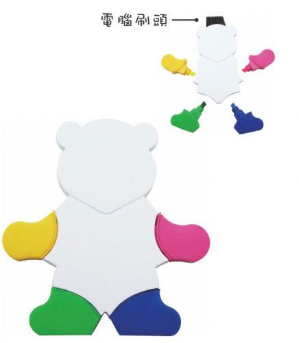 18-A01010400-18V-1121H 小熊造型螢光筆