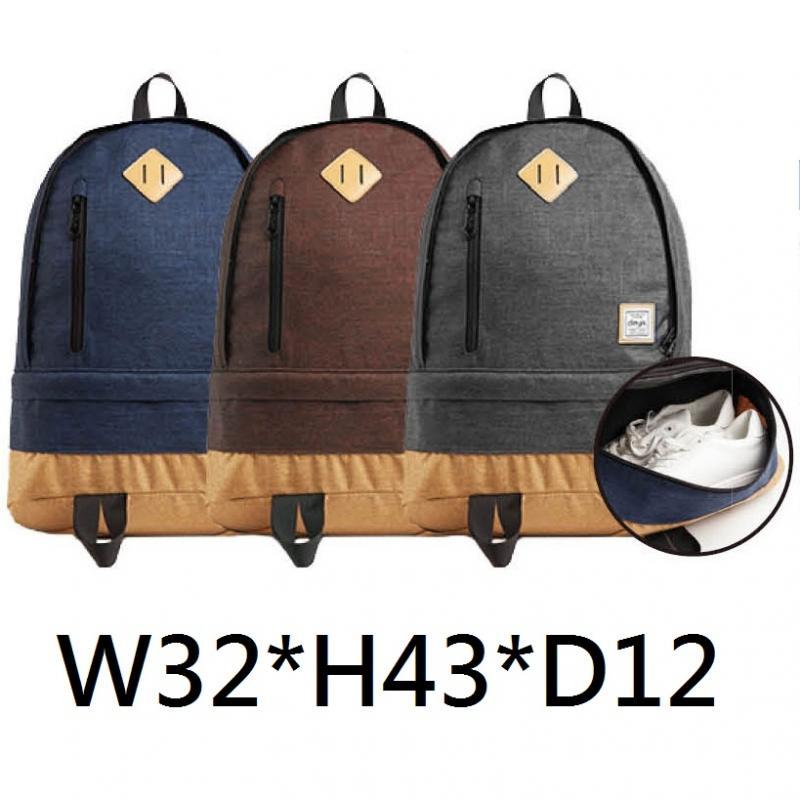 18-G049220800-DB160101BU-BR-GY 潮流鞋袋後背包