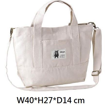18-G049126400-175201M-WH deya熊帆布手提托特肩袋